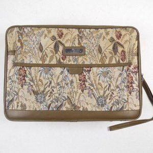 Vintage Jordache Floral Tapestry Small Suitcase Ca
